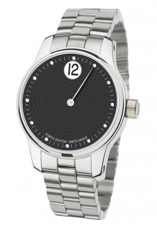 Fortis F-43 Jumping Hours Watch - Black Dial